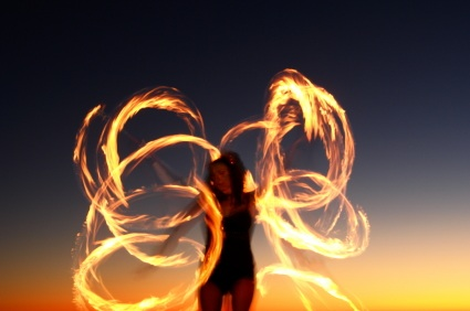 Blog art fire woman